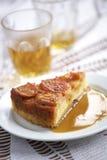 Закройте вверх по торту персика Стоковые Изображения