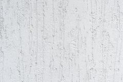 Закройте вверх по фото белых текстуры и предпосылки штукатурки rought Стоковая Фотография RF