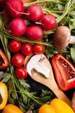 Закройте вверх по фото разного вида овощей Стоковое Изображение RF