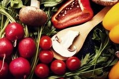 Закройте вверх по фото разного вида овощей Стоковая Фотография RF