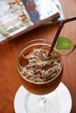 Закройте вверх по холодному кофе Стоковые Изображения RF