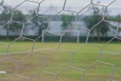 Закройте вверх по цели сети футбола Стоковое Изображение RF