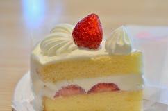 Закройте вверх по Shortcake клубники Стоковое Фото