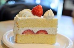Закройте вверх по Shortcake клубники Стоковое Изображение