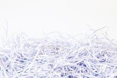 Закройте вверх по Shredded бумажной предпосылке стоковая фотография