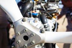 Закройте вверх пропеллера и двигателя Стоковые Фотографии RF