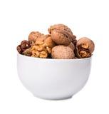 Закройте вверх пука грецких орехов в шаре Стоковое Изображение