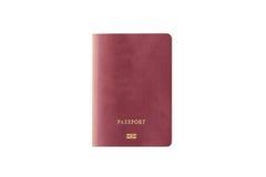 Закройте вверх пустого изолированного пасспорта Стоковые Фотографии RF