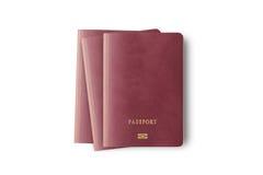 Закройте вверх пустого изолированного пасспорта 3 Стоковое Изображение RF