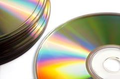 Закройте вверх пустых компактного диска или dvd, Стоковые Фотографии RF