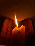 Закройте вверх пламени свечи Стоковая Фотография RF