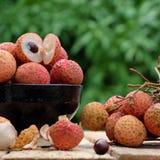 Закройте вверх плодоовощ litchi Стоковое Изображение