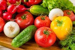 Закройте вверх различных красочных сырцовых овощей Стоковая Фотография RF