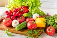 Закройте вверх различных красочных сырцовых овощей Стоковое Изображение