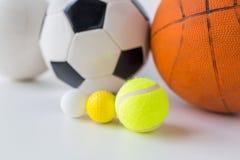 Закройте вверх различных установленных шариков спорт Стоковое Изображение RF