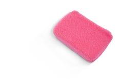 Закройте вверх розовой губки ванны Стоковая Фотография RF
