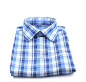 Закройте вверх рубашки шотландки. Стоковые Изображения RF