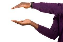 Закройте вверх руки показывая что-то стоковые изображения
