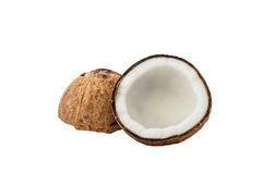 Закройте вверх свежего кокоса Стоковые Изображения