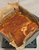 Закройте вверх свеже испеченный, домодельный, печенье пряжки яблока Стоковые Фото