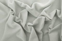 Закройте вверх серой хлопко-бумажной ткани. Стоковые Фотографии RF