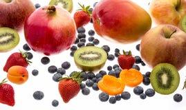 Закройте вверх смешанного плодоовощ изолированного на белизне Стоковое Изображение RF