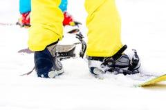 Закройте вверх сноуборда Стоковые Изображения RF