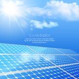 Закройте вверх солнечной батареи, технологии производства электроэнергии Realisti Стоковое Изображение