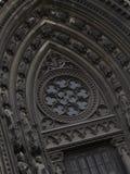 Закройте вверх средневекового французского собора Стоковая Фотография RF
