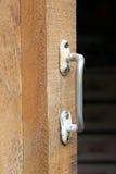Закройте вверх старой ручки двери Стоковое Изображение RF