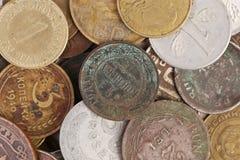 Закройте вверх старых монеток. Стоковое Изображение RF