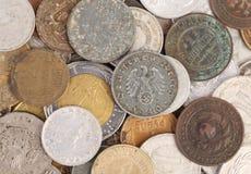 Закройте вверх старых монеток. Стоковое Фото