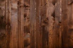 Закройте вверх стены сделанной деревянных планок Предпосылка текстуры Брайна Стоковые Изображения