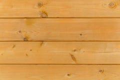 Закройте вверх стены сделанной деревянных планок Предпосылка текстуры Брайна Стоковое фото RF