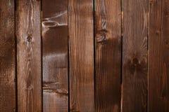 Закройте вверх стены сделанной деревянных планок Предпосылка текстуры Брайна Стоковое Изображение RF