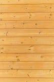 Закройте вверх стены сделанной деревянных планок Предпосылка текстуры Брайна Стоковые Изображения RF
