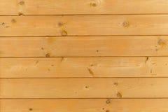 Закройте вверх стены сделанной деревянных планок Предпосылка текстуры Брайна Стоковая Фотография