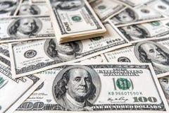 Закройте вверх стога долларов как предпосылка Стоковое Изображение RF