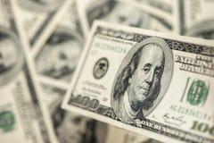 Закройте вверх стога долларов как предпосылка Стоковое Изображение