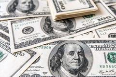 Закройте вверх стога долларов как предпосылка Стоковое фото RF