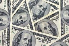 Закройте вверх стога долларов как предпосылка Стоковые Изображения RF