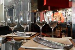 Закройте вверх столешницы ресторана Стоковое Изображение RF