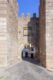 Закройте вверх строба городка (Porta da Vila) Nisa Стоковые Изображения