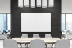 Закройте вверх таблицы конференц-зала, черноты, плаката Стоковая Фотография