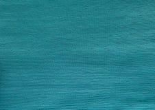 Закройте вверх текстуры ткани хлопка Teal Стоковые Фото