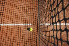Закройте вверх теннисного мяча Стоковая Фотография