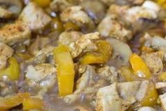 Закройте вверх тушёного мяса мяса с овощами Стоковая Фотография RF