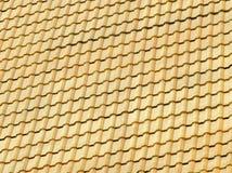Закройте вверх украшенной крыши церков тонны лотка Wat Si Стоковое Фото