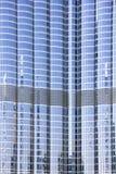 Закройте вверх фасада башни Burj Khalifa принятой 21-ого марта 2013 в Дубай, Объединенные эмираты. Стоковое Изображение