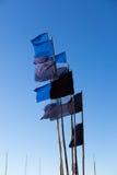Закройте вверх флагов на шлюпке рыболова Стоковое фото RF